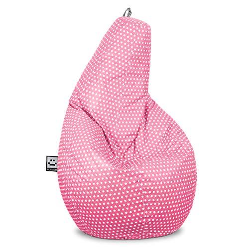 HAPPERS Puff Pera Estampado para Salón o Dormitorio Stars Rosa XL