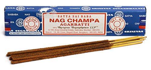 , 3 paquetes original Satya Sai Baba Nag Champa varillas de incienso Joss Shop - en sentido 15 G...
