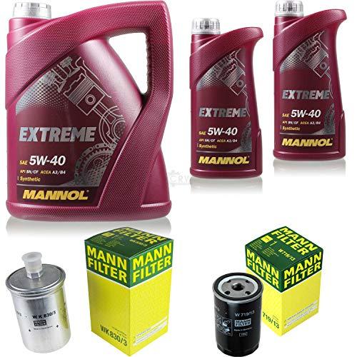 Mannol 7L Extreme 5W-40 Aceite de motor + filtro para Mercedes-Benz 190 W201 E 1.8