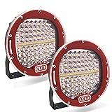 Safego 2pcs Focos LED, 7' 300W 24000LM Faros Trabajo LED Spot 12V-24V Barra LED IP68 Impermeable Luz de Niebla para Coche,SUV, UTV, ATV,Off-road,Camión,Moto,Barco - Garantía de 1 años(Concha negra)