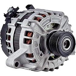 New DB Electrical 400-24260 Alternator for 2.5L 1 Clock 180 Amp Internal Fan Type Clutch Pulley Type Internal Regulator CW Rotation 12V Volvo V60 2015 2016 125811005 125811020 11164 AL0896N