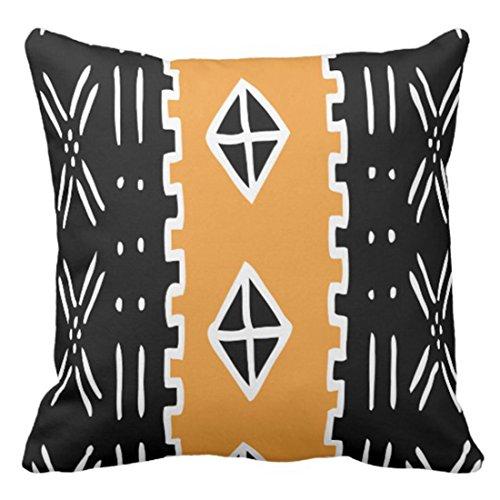 Emvency Funda de almohada Ankara barro barro Kente Tribal Africano Rasta funda de almohada decorativa para decoración del hogar cuadrada de 50 x 50 cm