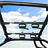 UTV Overhead Gun Holder, kemimoto Roof Gun Carrier Bow Rack 21in-28in Roll Bars Depth(Front to Back) Compatible with Polaris Ranger RZR Kawasaki