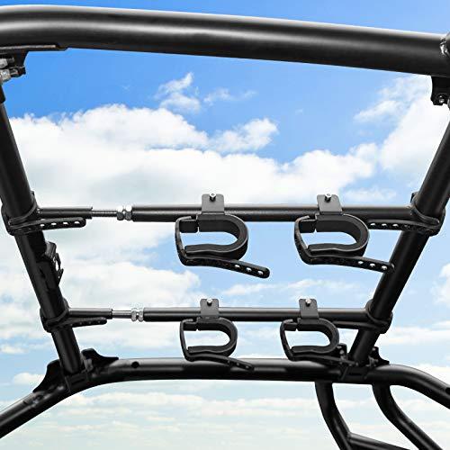 UTV Overhead Gun Holder, kemimoto Roof Gun Carrier Bow Rack...