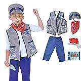 FENGLI - Costume da conduttore treno per bambini, costume da ballo, per feste di piccole dimensioni, regalo per bambini
