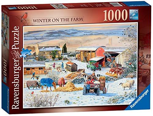 Ravensburger 16478 Winter on The Farm Puzzle 1000 Teile für Erwachsene & Kinder ab 12 Jahren