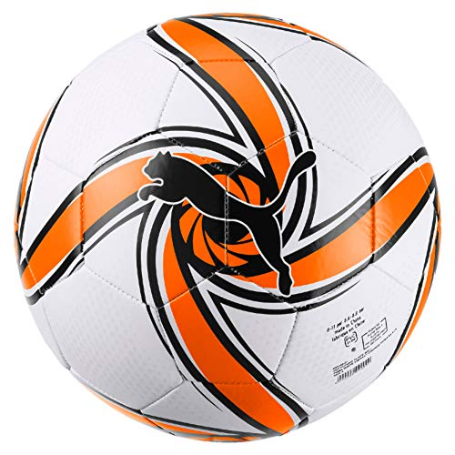 PUMA VCF Future Flare Ball Balón de Fútbol, Adultos Unisex, White-Vibrant Orange Black, 5