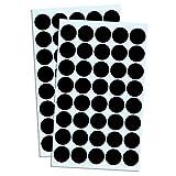 Pack de 2000, 2cm Gomets Colores Pegatinas Redondo Adhesivos - Negro