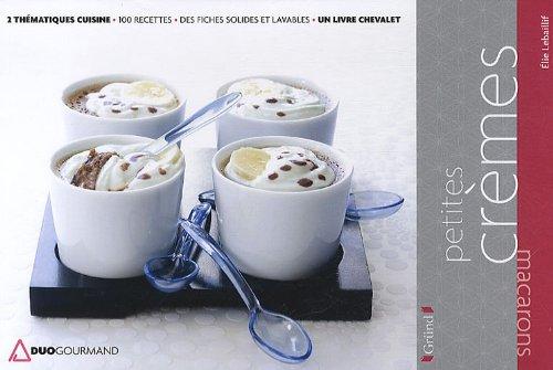 Macarons / Petites crèmes / Un livre chevalet (Duo gourmand)