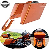 Moto Onfire Stretched Saddlebags, Amber Whiskey, 4.5 inch, Extended Rear Fender Extension Fit for 2014 2015 2016 2017 2018 2019 2020 Harley Touring, Road Glide, Street Glide, Road King