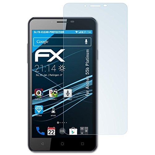 atFolix Schutzfolie kompatibel mit Archos 55b Platinum Folie, ultraklare FX Bildschirmschutzfolie (3X)