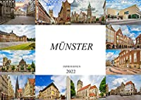 Muenster Impressionen (Wandkalender 2022 DIN A3 quer): Einmalig wunderschoene Bilder der Stadt Muenster (Monatskalender, 14 Seiten )
