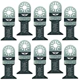 10 x 44 mm, TopsTools un44b_10 Lama in metallo per tosaerba Bosch, Fein Multimaster, pastello, Makita, Milwaukee, Einhell, Ergotools, Hitachi, Parkside, Ryobi, Worx, Workzone Utensile multiuso con accessori