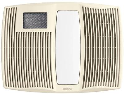 Broan-Nutone QTX110HL Very Quiet Ceiling Heater, Fan, and Light Combo for Bathroom and Home, 0.9 Sones, 1500-Watt Heater, 60-Watt Incandescent Light, 110 CFM