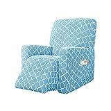 GGoty Funda de sofá reclinable de 1 plaza, suave y elástica, funda de sofá adecuada para sala de...