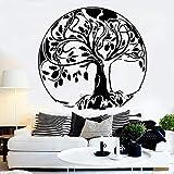 YuanMinglu Big Tree Abstract Applique Oak Ballot Life Tree Vinilo Adhesivo de Pared para decoración del hogar Art Mural Room Black XXL 174cm x 165cm