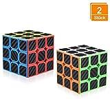 DealKits Zauberwürfel(2 Stück), Rubiks Cube 3x3 Original Speedcube Magische Geschwindigkeit Würfel Speed Magic Cube Druckminderer Intelligenz IQ Kombinationsübunge für Anfänger Kinder Jugendlichen