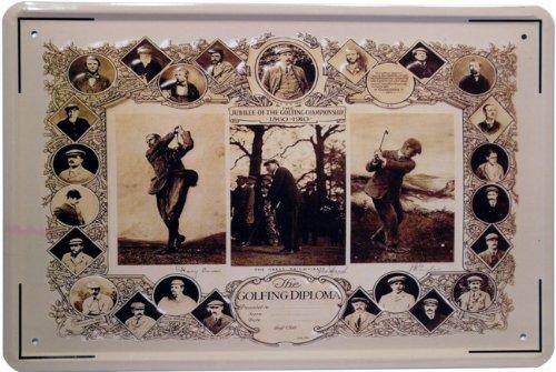 Plaque de Les Joueurs de Golf Légendes 20 x 30 cm publicité Retro Tôle 135