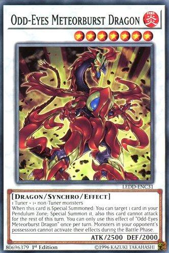 yu-gi-oh Odd-Eyes Meteorburst Dragon - LEDD-ENC31 - Common - 1st Edition - Legendary Dragon Decks (1st Edition)
