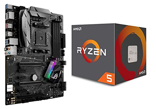 AMD Procesador Ryzen 5 1500X con paquete de refrigeración Wraith Spire (2 artículos): CPU y placa base ASUS ROG STRIX B350-F GAMING
