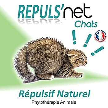 REPULS'NET - Spray Répulsif Chat 100% Naturel 250 ml