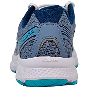 Saucony Women's Cohesion 10 Running Shoe, Grey/Teal 8 M US