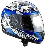 Protectwear motociclo casco del bambini blu SA03-BL, Taglia S (gioventú XL) 54/55 cm