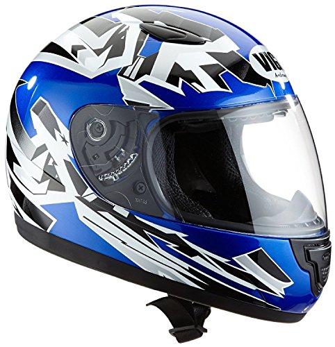 Protectwear SA03-BL-S Kinder Motorradhelm, Integralhelm, Größe S (Youth XL), Blau/Silber