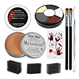 Mysense Nose and Scar Wax Set,Fake Wound Modeling Scar Body Paint Makeup Wax,Make Specail Effects For Halloween,Party, Festival,with 6 color paint and fake blood gel