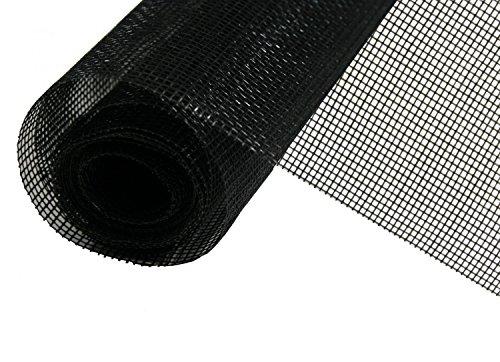 empasa Fiberglas Haustiergewebe Katzenschutzgitter Gaze schwarz Meterware / 13,99EUR/m²