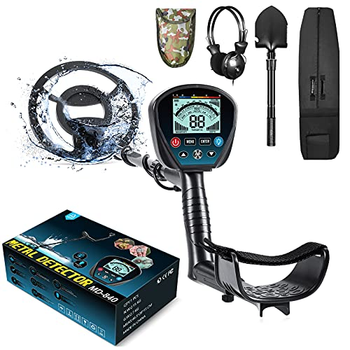 Professional Metal Detector for Adults, High Sensitivity 9 Identification Levels Gold Detector with PinPoint and Discrimination Mode LCD Backlight 10'...