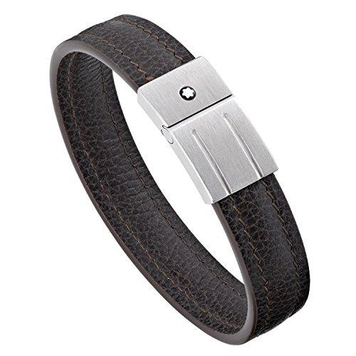 Montblanc Herren Armband Bangle Silber und PVD