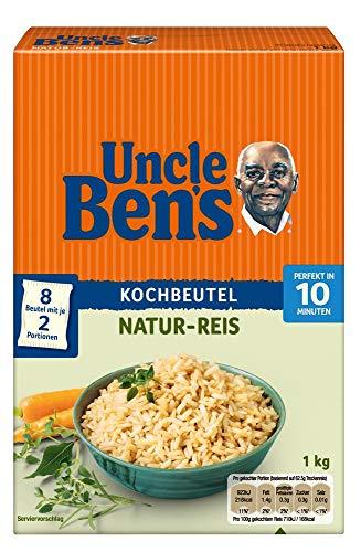 Uncle Ben's Natur-Reis, 10-Minuten Kochbeutel, 6 Packungen (6 x 1kg)