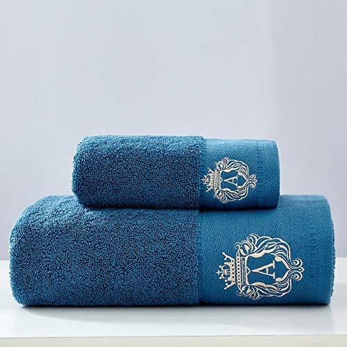 DSJDSFH Einfache Eintönige Baumwolle Dicke Badetuch Set Leben Handtuch 34 cm * 75 cm, 70 cm * 140 cm Bequem Und Langlebig