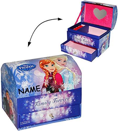 """Frozen // Herz /"""" Disney die Eiskönigin mit Spiegel /& Glitzer Schmuckkasten"""