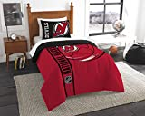 NHL New Jersey Devils Twin Comforter and Sham Set, Twin