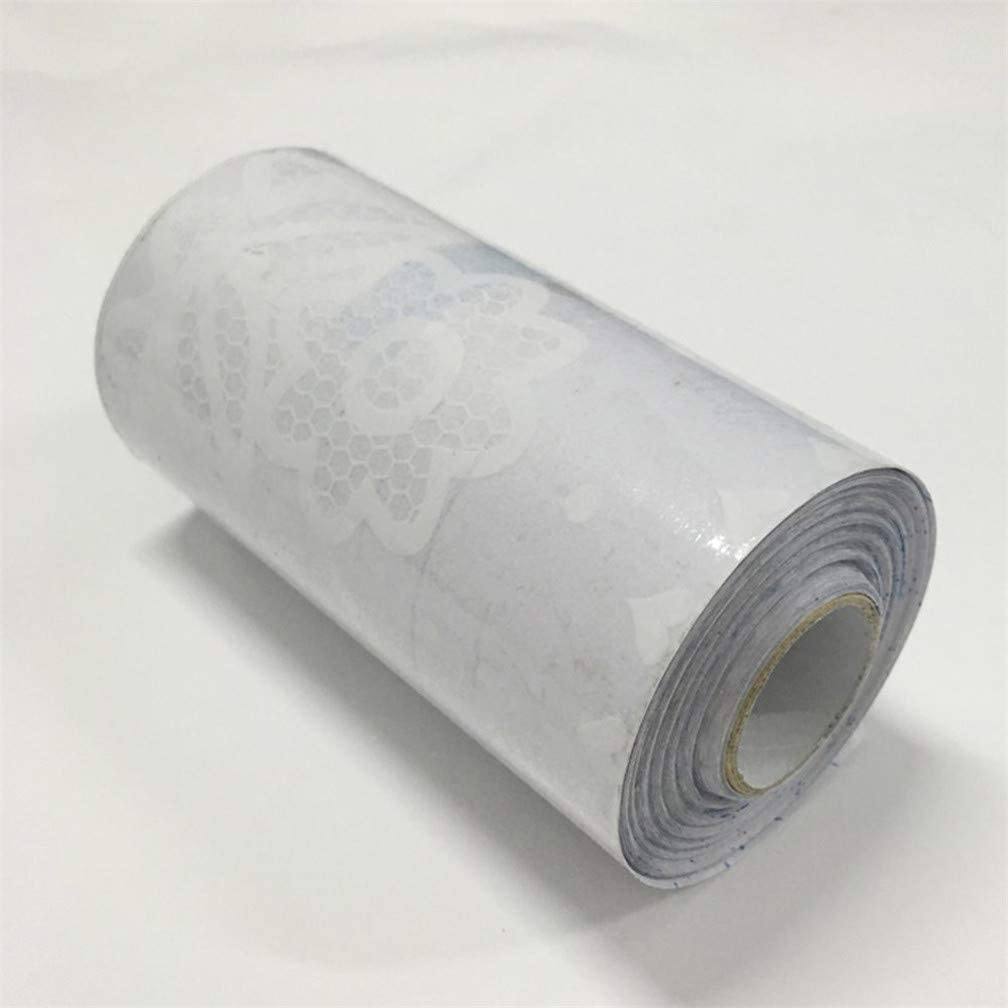 pour vitrine lacet 03 carrelage et miroir autocollant amovible et /étanche salle de bain 10 cm x 1 000 cm Bordure de papier peint transparente en dentelle blanche porte