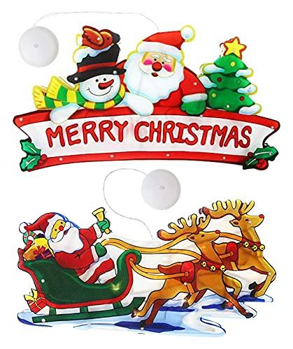 2 Piezas De Luces Colgantes De Succión, Luces De Succión De Navidad, Navidad DIRIGIÓ Luces De La Ventana, DIRIGIÓ Luces Colgantes De Cortina, Luces Colgantes De La Ventana Del Árbol De Navidad De Sant