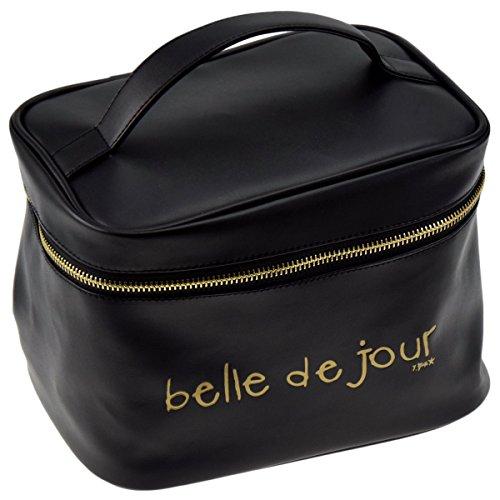 Incidence Paris 61859 Vanity case Belle de jour Noir et doré Miroir et filets H15,5 x 17 x 21,5 cm, Noir