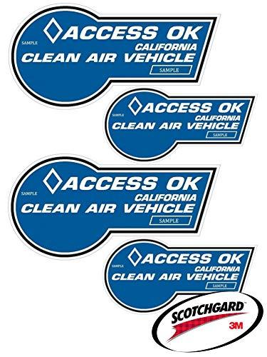 EV Wraps California HOV Stickers 3M Paint Protection Film - Fits 2020 & 2021