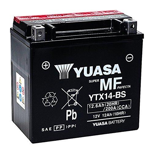 Batteria sigillata Yuasa YTX14-BS 12 V 12 Ah 200 CCA con acido