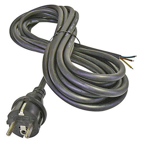 Emos SY-11 Cable de alimentación eléctrica para Plancha (3 m, IP20 en Interiores), Schuko, Color Negro, 0