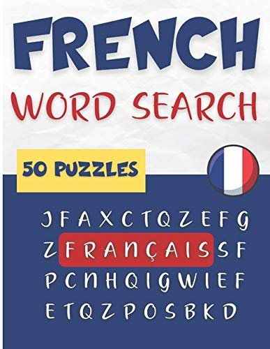 French Word Search | 50 puzzles français: Learn French Vocabulary