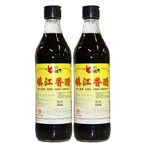 ロウバ 鎮江香酢 ((中国黒酢) 500ml×2個 人気中国香酢