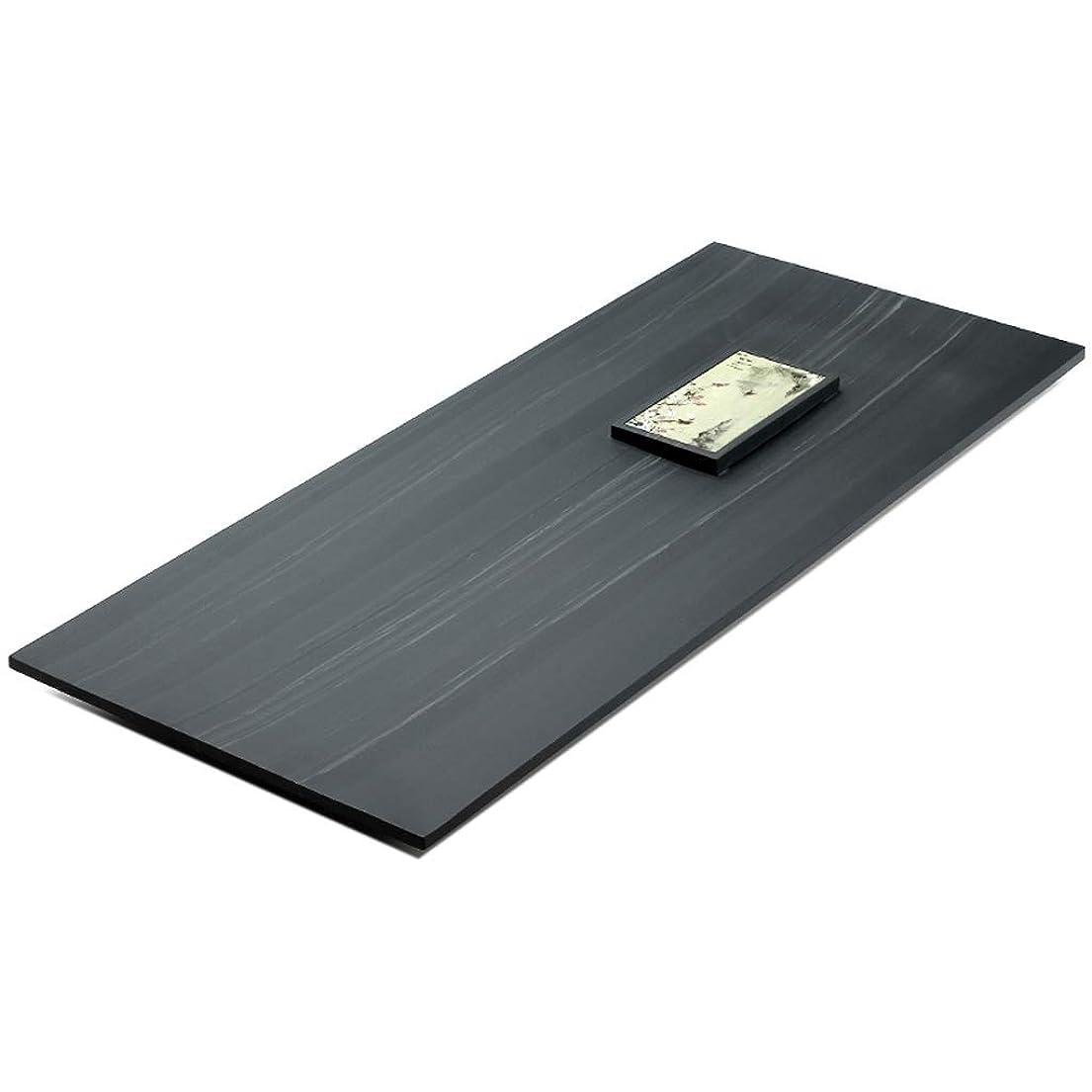 形容詞症状絞るティートレイ 中国のカンフーティートレイ ファッショナブルな武進ストーンティートレイ 日本の長方形のティーテーブル 禅ティー ホームシンプルなティーテーブル 耐久性 (Size : 80x35x3cm)