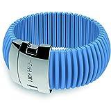 HIP HOP HJ0074 - Bracciale da donna HIP HOP ICON in plastica, 21 cm, colore: Blu