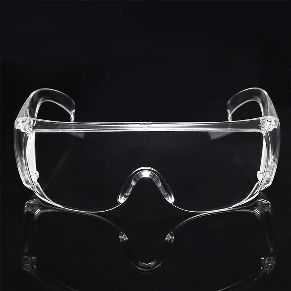 gafas de seguridad para hombres y mujeres Gafas de seguridad con protecci/ón antivaho transparente trabajo de laboratorio transparentes sobre gafas antisalpicaduras