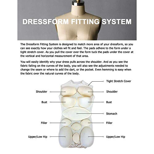 Adult Female Dress Form Padding System for Professional Dress Forms (12 Piece Set)(ST-PAD)