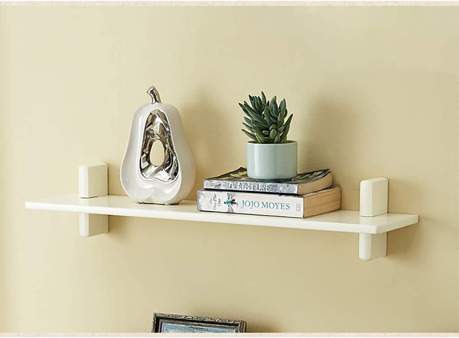 Floating Unit Frame Wall Bookshelf Separator Solid Wood Wall Shelf Wall-Mounted Storage Rack Wall Decoration Retro Style (color   A80cm)