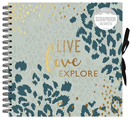 Home collection Live Amour Explore Animal Impriméà Spirale Scrapbooking Photo Album Carré 40 Pages